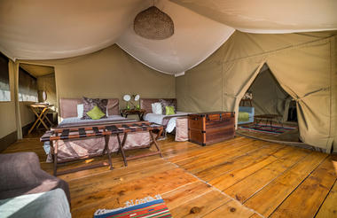 2 bedroomed tent